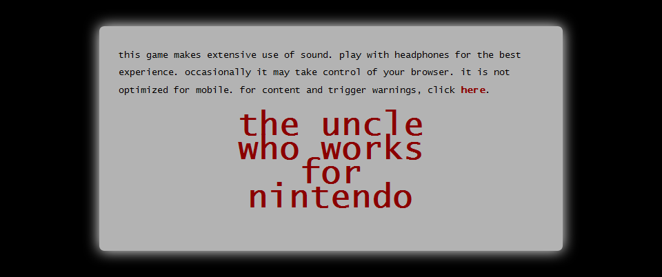 The Uncle Who Works For Nintendo 01